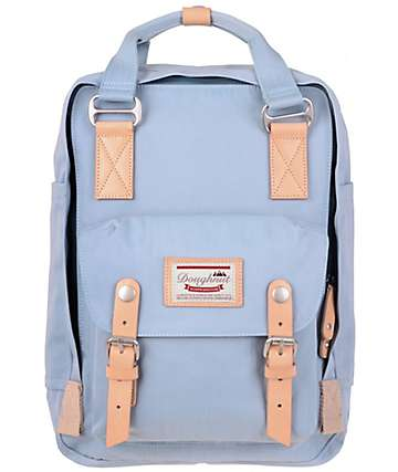 Doughnut Macaroon Light Blue Backpack