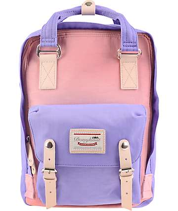 Doughnut Macaroon Rose & Taro Backpack