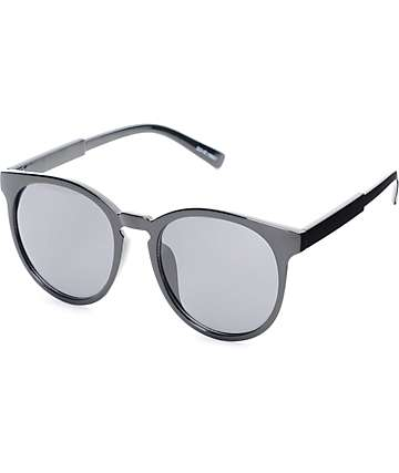 Dover Oversized Round Black Sunglasses