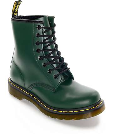 Dr. Martens 1460 Green Smooth Boots
