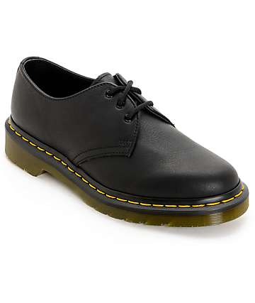 Dr. Martens 1461 Virginia 3 Eye Black Shoes