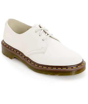 Dr. Martens 1461 Virginia 3 Eye White Shoes