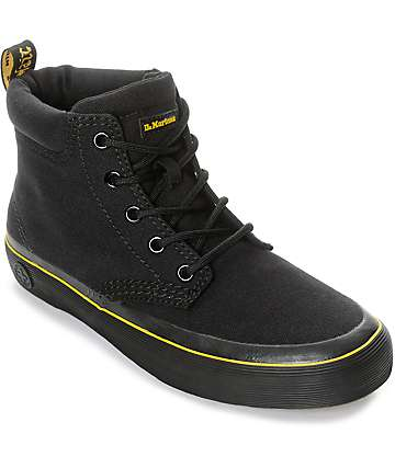 Dr. Martens Allana Padded Collar Black Canvas Boots