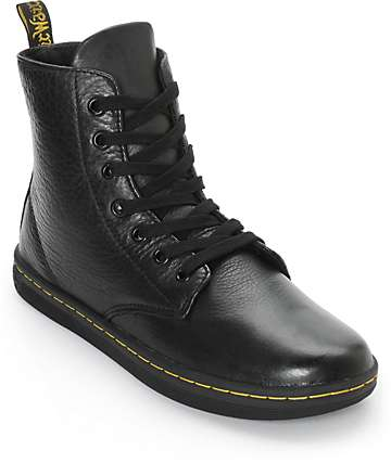Dr. Martens Leyton Black Leather Boots