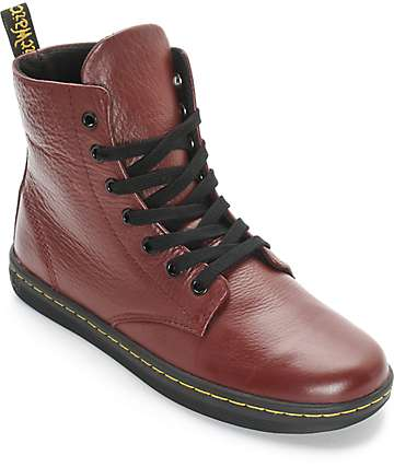 Dr. Martens Leyton Oxblood Leather Boots