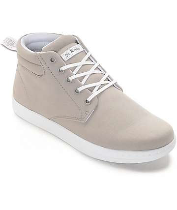 Dr. Martens Maleke Grey Canvas Shoes
