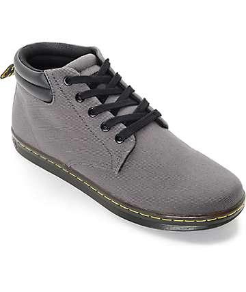 Dr. Martens Maleke zapatos en gris con cuello acolchado