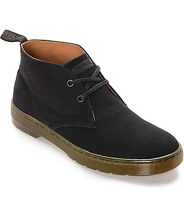 Dr. Martens Mayport Black Twill Canvas Boots