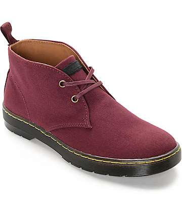 Dr. Martens Mayport Ox Blood Twill Canvas Boots