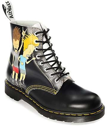 Dr. Martens Pascal Beavis & Butthead Black & White Boots