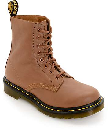 Dr. Martens Pascal Virginia 8 Eye Tan Boots