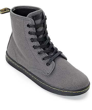 Dr. Martens Shoreditch Lead Overdyed Twill Canvas Boots