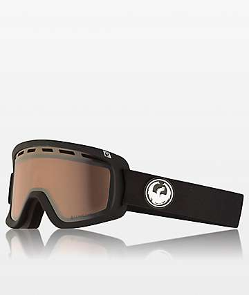 Dragon D1 OTG Black & Silver Ion Snowboard Goggles