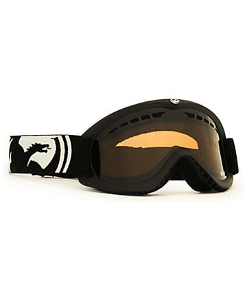 Dragon DX Black & Amber Snowboard Goggles