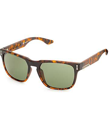 Dragon Monarch Matte Tortoise & Green G15 Sunglasses