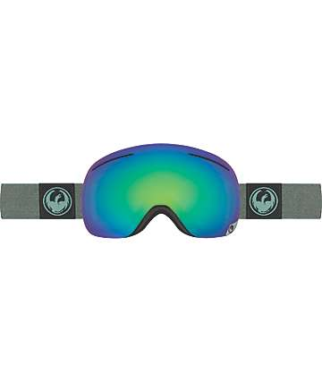 Dragon X1 Hone Emerald & Optimized Flash Green Snowboard Goggles
