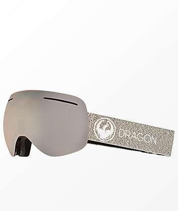 Dragon X1 Mills Lumalens Silver Ion Snowboard Goggles