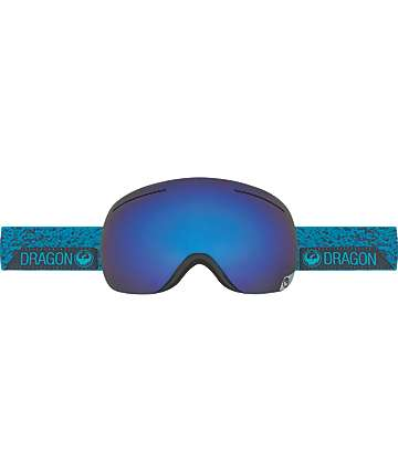Dragon X1 Stone Blue, Dark Smoke Blue & Yellow Red Ion Snowboard Goggles