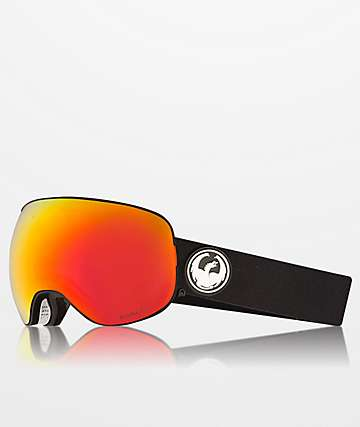 Dragon X2s Black & Red Ion Snowboard Goggles