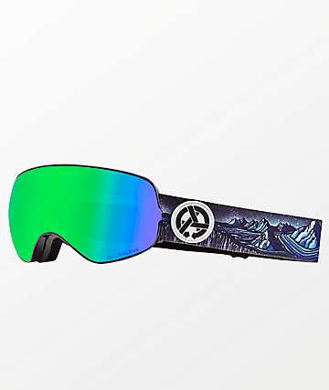 Dragon X2s Iguchi Asymbol Green Ion Snowboard Goggles