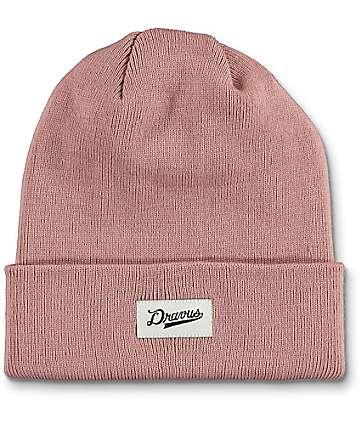 Dravus Alden Dusty Pink Cuff Beanie