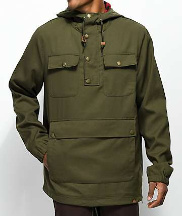 Dravus Bartley Olive Anorak Jacket
