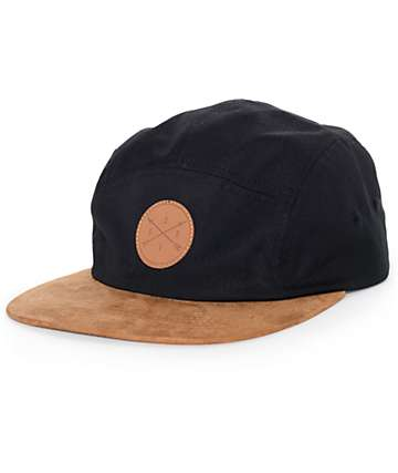 Dravus Benji Black and Brown 5 Panel Hat
