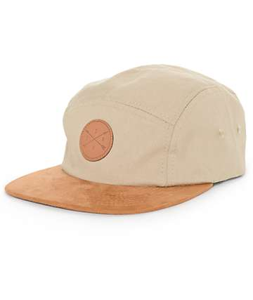 Dravus Benji Khaki and Brown 5 Panel Hat