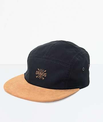 Dravus Benji gorra de cinco paneles en negro