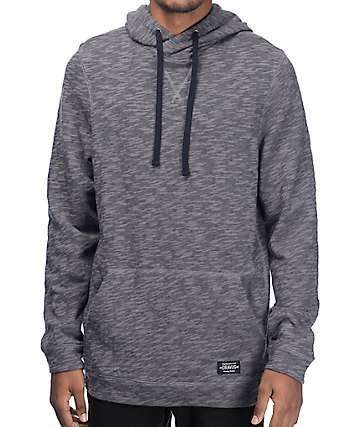 Dravus Bernal capucha cuello cruzado en gris oscuro