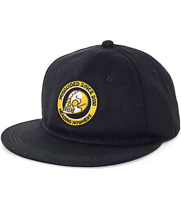 Dravus Brash Black Snapback Hat