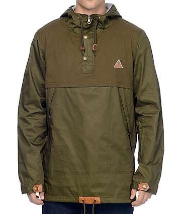 Dravus Brenner Olive Anorak Jacket