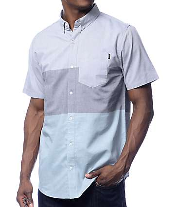 Dravus Brett Color Blocked Oxford Shirt