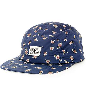 Dravus Bud 5 Panel Navy Hat