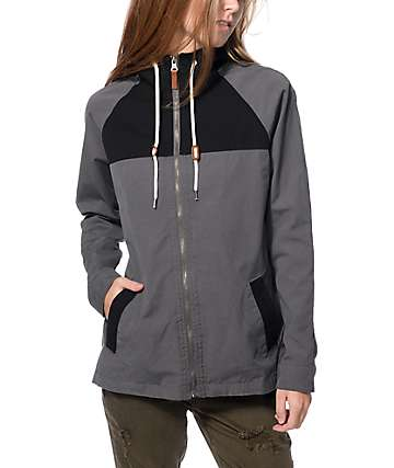 Dravus Cameron Grey Color Block Jacket