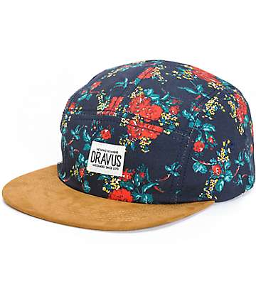 Dravus Carnation Floral 5 Panel Hat