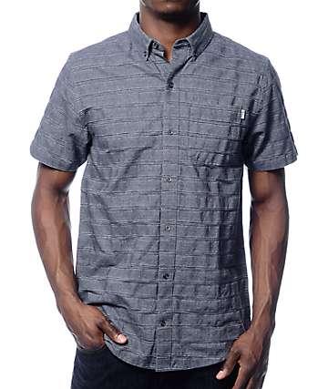 Dravus Charleston Blue Dobby Short Sleeve Button Up Shirt