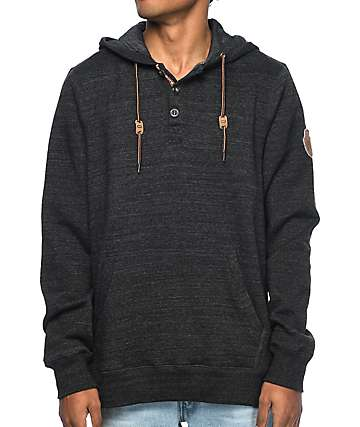Dravus Charmed Heather Black Hoodie