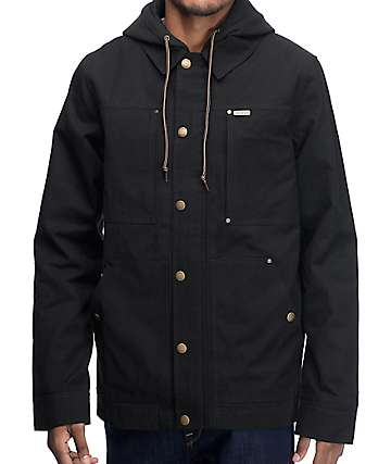 Dravus Chores Black Canvas Workwear Jacket