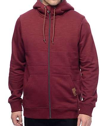 Dravus Cold Nites chaqueta en color granate con forro Sherpa
