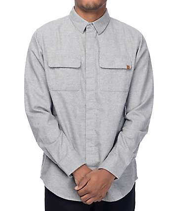 Dravus Dan Solid Grey Flannel Shirt