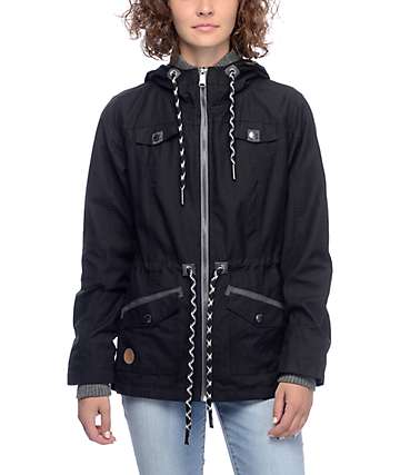 Dravus Dylan Black Cinch Zip Up Jacket