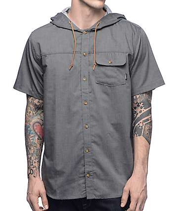 Dravus EBS Brother Chambray Hooded Woven Shirt