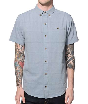 Dravus Franklin Chambray Dobby Button Up Shirt