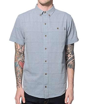 Dravus Franklin Chambray Dobby Short Sleeve Button Up Shirt