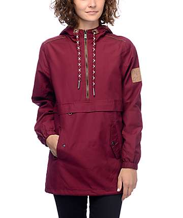 Dravus Gaelyn Burgundy Canvas Anorak Jacket