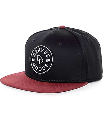 Dravus Goods Black & Burgundy Snapback Hat