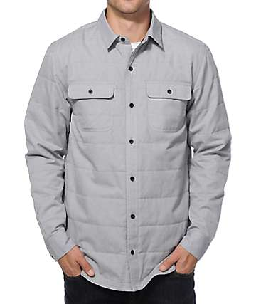 Dravus Gordon Oxford Quilted Long Sleeve Button Up Shirt