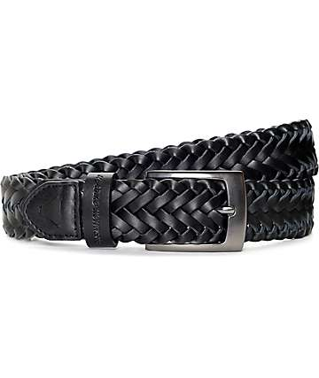 Dravus Grip Black Leather Belt