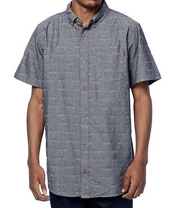 Dravus Harold Navy Chambray Dobby Woven Shirt
